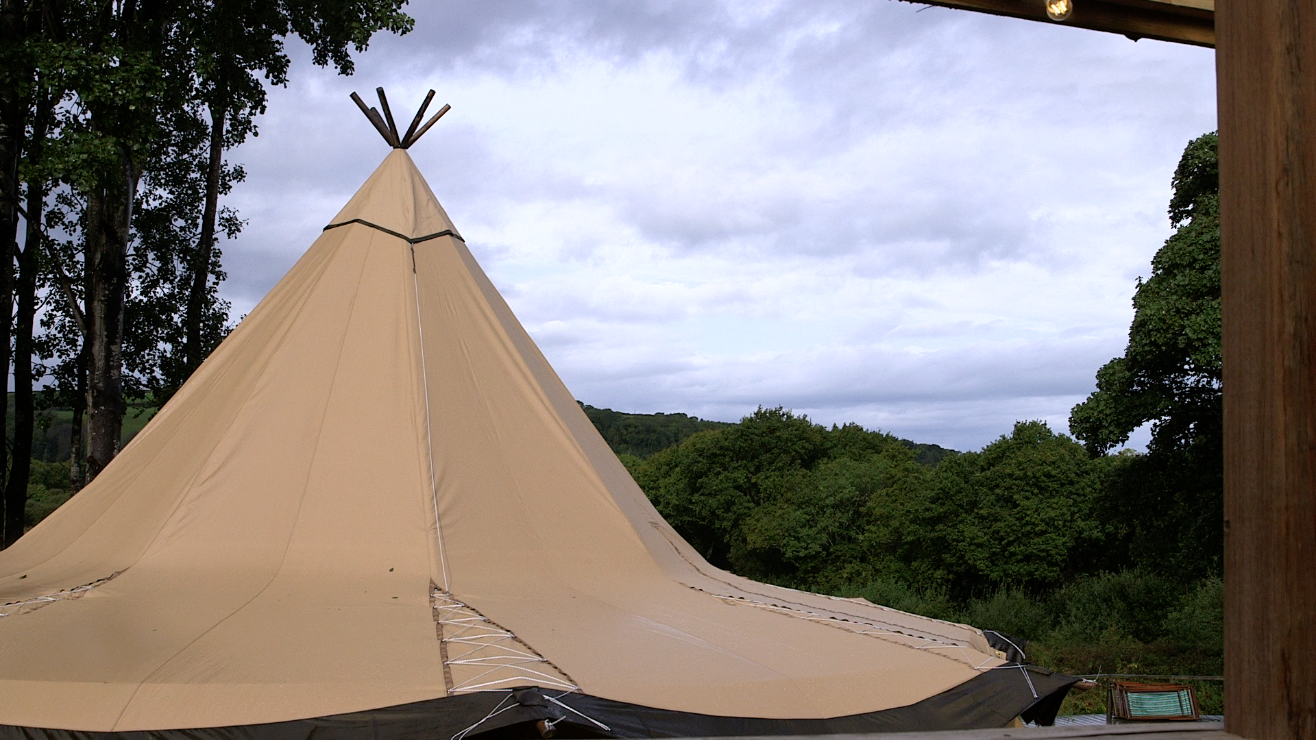 Teepee Video still from Fforest Farm